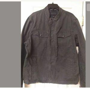 Banana Republic Men's Gray Jacket Distressed XL